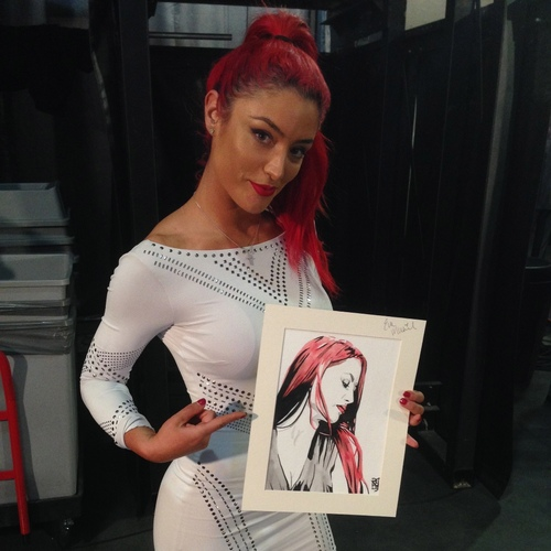 Eva Marie Signed Painting by Rob Schamberger