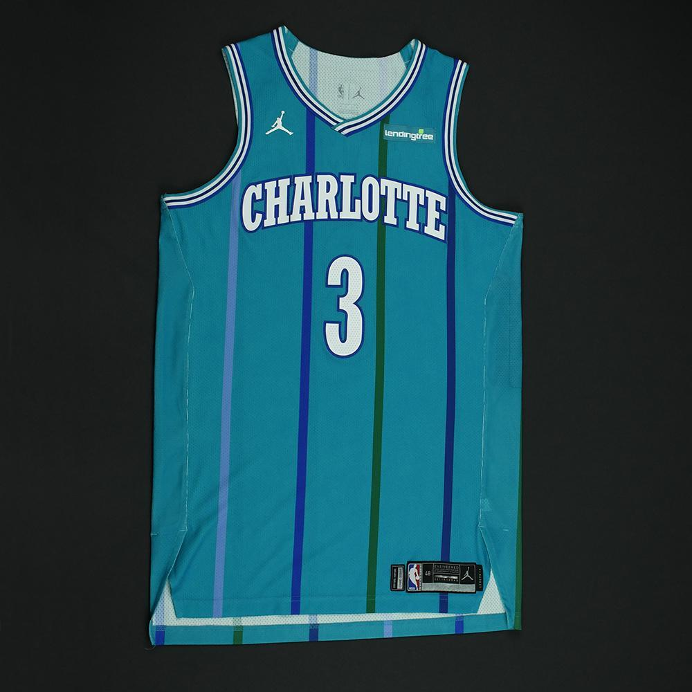 e2382bdc6361 Jeremy Lamb - Charlotte Hornets - Game-Worn Classic Edition 1988-97 Road  Style