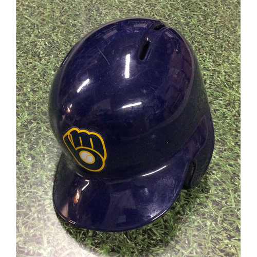 Photo of Hernan Perez 2017 Game-Used Navy Ball & Glove Batting Helmet