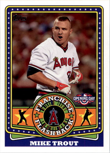 Photo of 2015 Topps Opening Day Franchise Flashbacks #FF20 Mike Trout