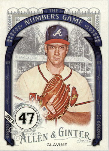 Photo of 2016 Topps Allen and Ginter The Numbers Game #NG90 Tom Glavine