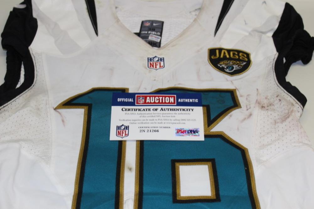 NFL Auction | Crucial Catch - JAGUARS DENARD ROBINSON GAME WORN ...