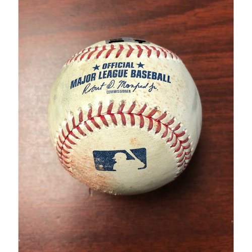 Photo of Game Used Baseball: Ryne Stanek strikes out Cody Bellinger - May 22, 2019 v LAD