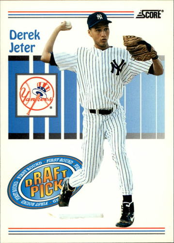 Photo of 1993 Score #489 Derek Jeter Rookie Card