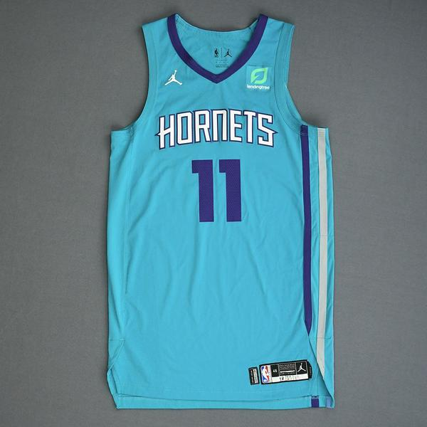Image of Cody Martin - Charlotte Hornets - Game-Worn Icon Edition Rookie Debut Jersey - 2019-20 Season