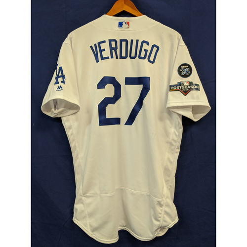 Photo of Alex Verdugo Team Issued 2019 Home Postseason Jersey