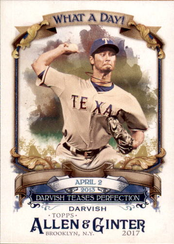 Photo of 2017 Topps Allen and Ginter What a Day #WAD34 Yu Darvish