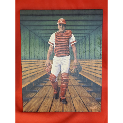 Johnny Bench Wood Art Painting by Felix