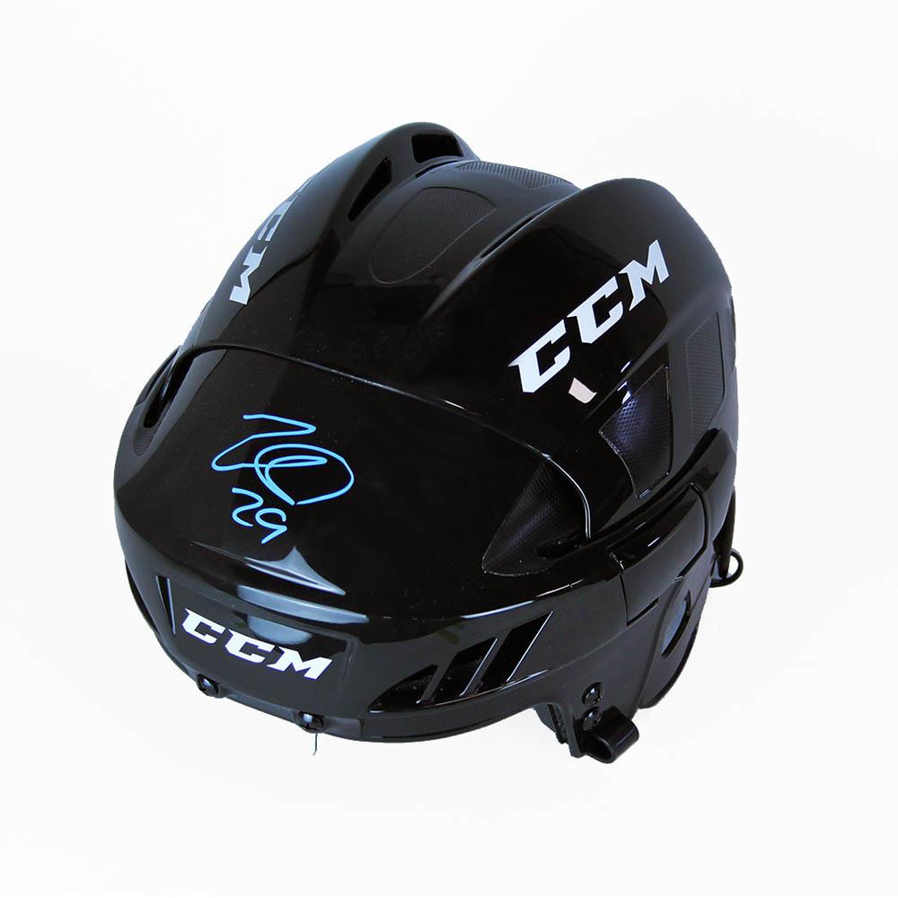 Nathan MacKinnon Autographed CCM Hockey Helmet - Colorado Avalanche