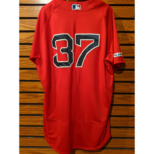 Photo of Heath Hembree Game Used Home Red Jersey
