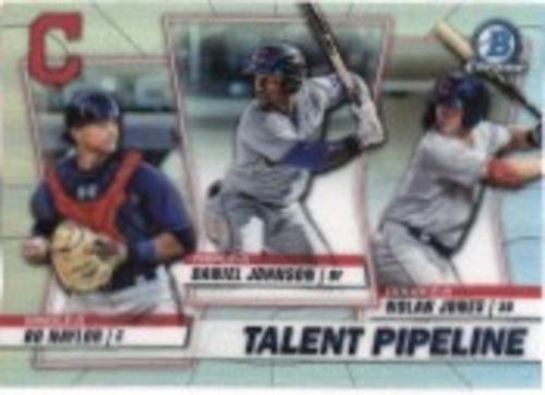 Photo of 2020 Bowman Chrome Talent Pipeline #TPCLE Daniel Johnson/Nolan Jones/Bo Naylor