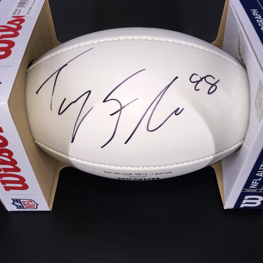 Patriots - Trey Flowers Signed Panel Ball with Patriots Logo