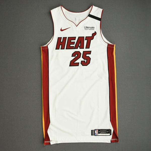 Image of Kendrick Nunn - Miami Heat - Game-Worn Association Edition Jersey - 2019-20 NBA Season Restart with Social Justice Message