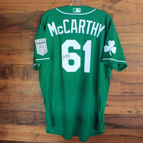 Photo of Autographed 2020 St. Patrick's Day Jersey: Kevin McCarthy #61 - Size 46