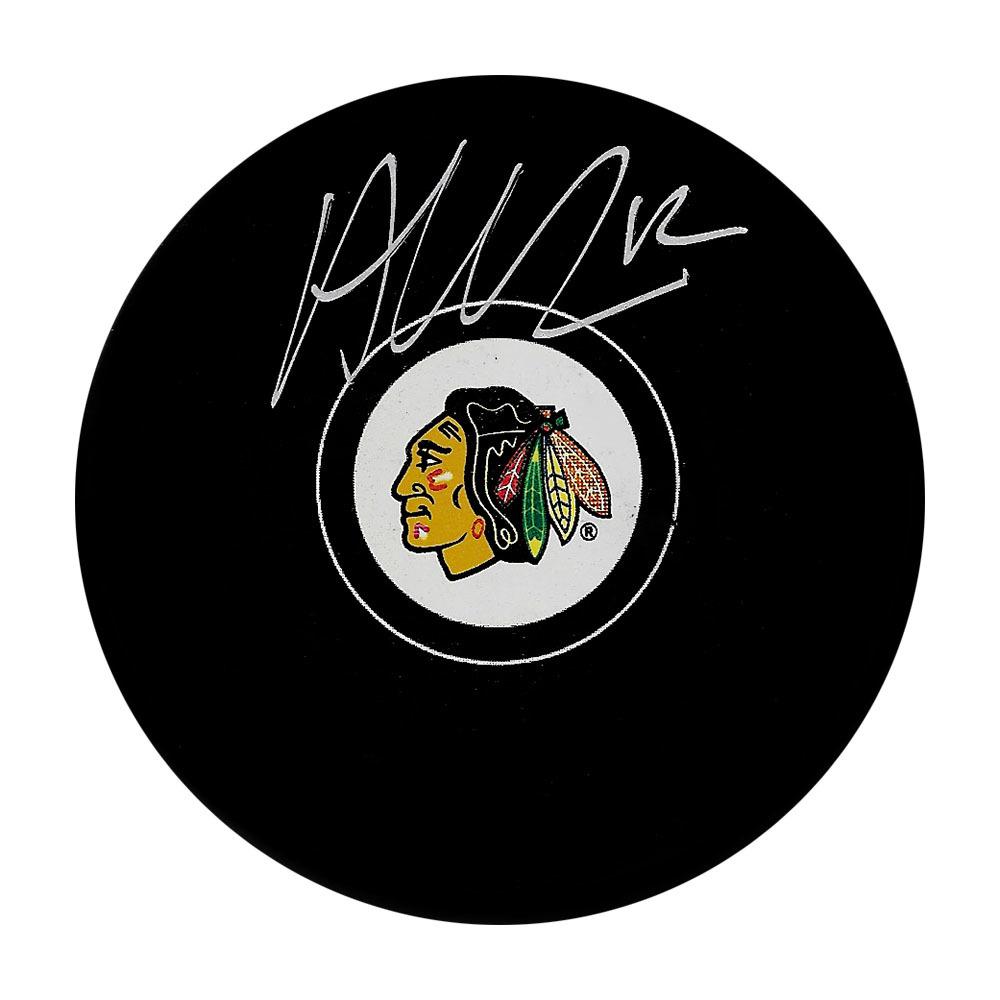 Alex DeBrincat Autographed Chicago Blackhawks Puck
