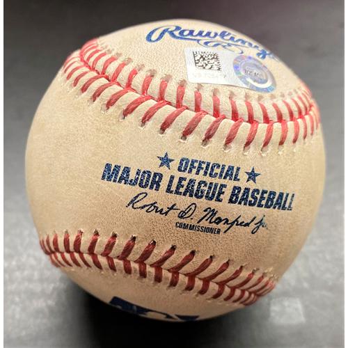 Photo of Game-Used Baseball:  Rougned Odor New York Yankees Single  (MLB AUTHENTICATED)