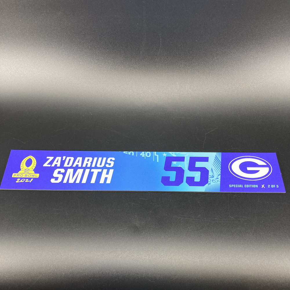 NFL - Packers Za'Darius Smith 2021 Pro Bowl Locker Nameplate Special Edition #2 of 5