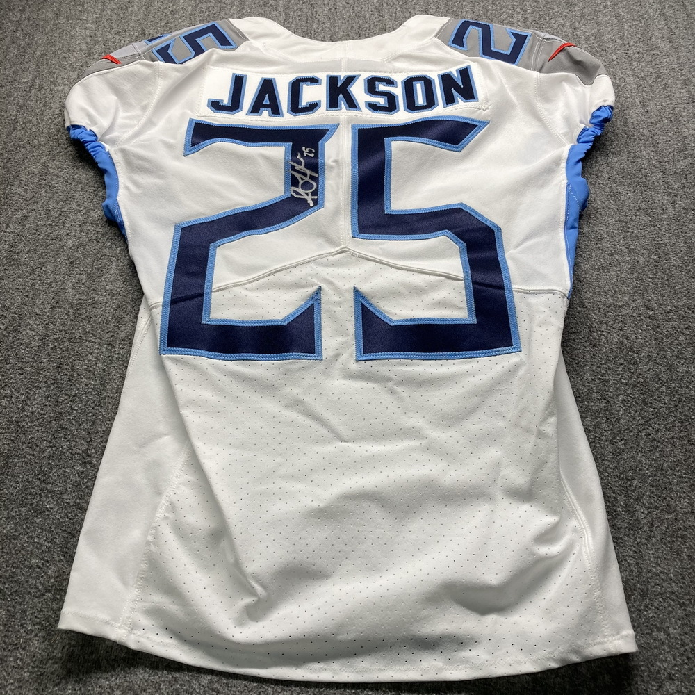 STS - Titans Ador'ee Jackson Signed Game Used Jersey (11/22/20) Size 38