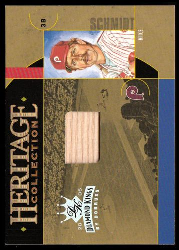 Photo of 2005 Diamond Kings Heritage Collection Bat #18 Mike Schmidt/100