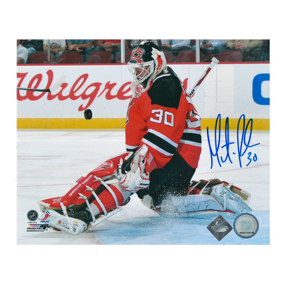 MARTIN BRODEUR Signed New Jersy Devils 8 X 10 Photo - 70323