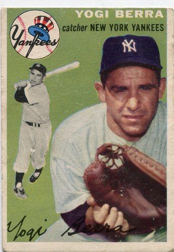 Photo of 1954 Topps #50 Yogi Berra -- Hall of Famer