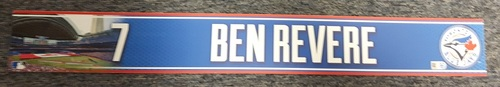 Authenticated Game Used 2015 Locker Nameplate - #7 Ben Revere