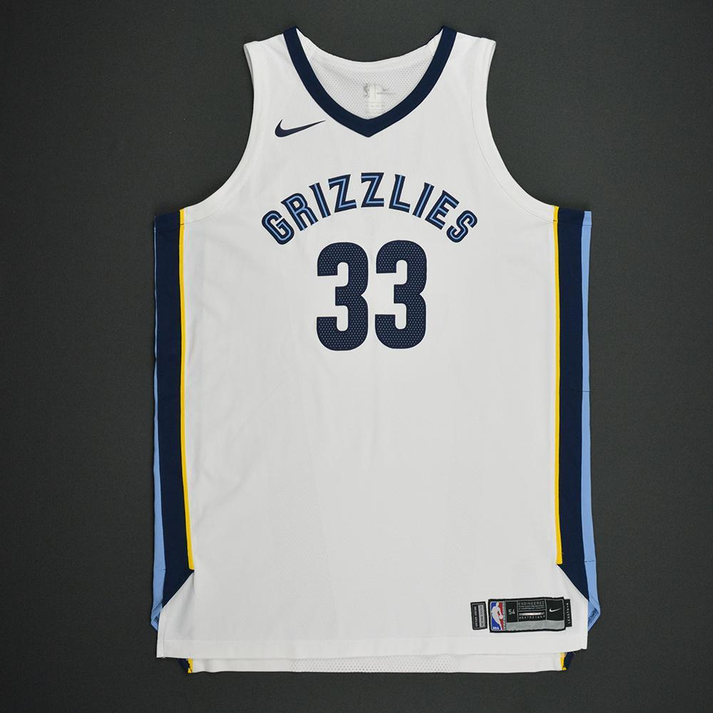 Marc Gasol - Memphis Grizzlies - Kia NBA Tip-Off 2017 - Game-Worn ... 527c3fa12