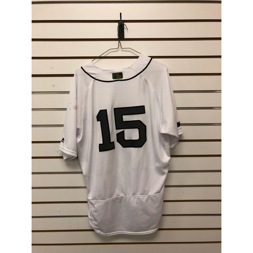 Photo of Dustin Pedroia Game-Used May 26, 27 & 28, 2018 Memorial Day Home Jersey