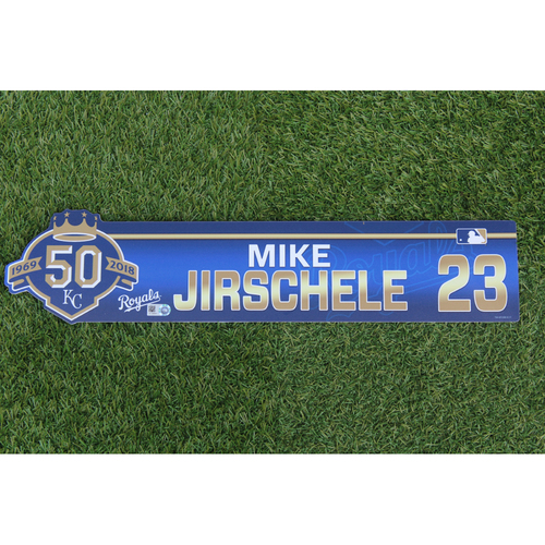 Photo of Game-Used Locker Nameplate: Mike Jirschele