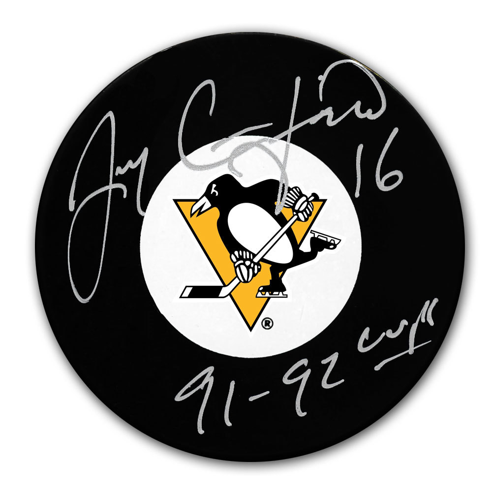 Jay Caufield Pittsburgh Penguins SC Years Autographed Puck