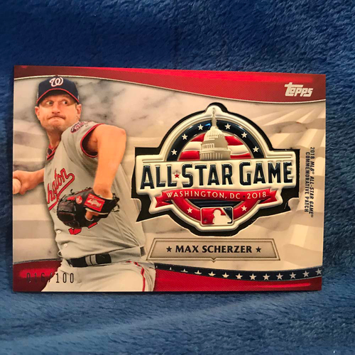 Photo of UMPS CARE AUCTION: 2018 Topps All-Star Game Max Scherzer Commemorative Card/Patch