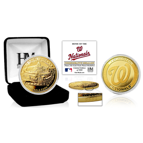 "Photo of Washington Nationals ""Stadium"" Gold Mint Coin"