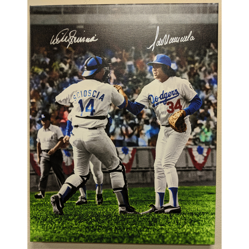 Photo of Fernando Valenzuela and Mike Scioscia Autographed Photo Canvas