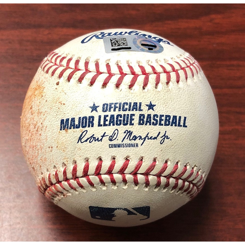 Photo of Game Used Baseball: Austin Meadows foul ball off Jake Waguespack (MLB DEBUT) - May 27, 2019 v TOR