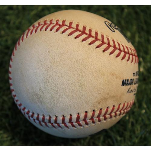 Photo of Game-Used Baseball: Avisail Garcia 650th Career Hit (TB @ KC - Game 1  - 5/1/2019)