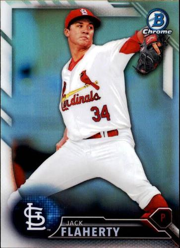 Photo of 2016 Bowman Chrome Draft Refractors #BDC192 Jack Flaherty