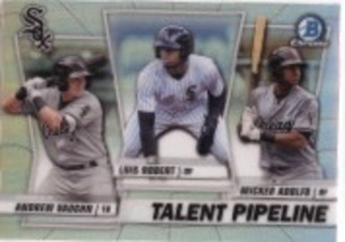Photo of 2020 Bowman Chrome Talent Pipeline #TPCWS Micker Adolfo/Luis Robert/Andrew Vaughn