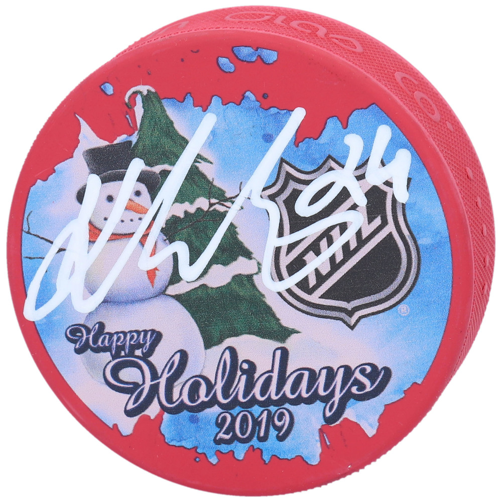 Kaapo Kakko New York Rangers Autographed Inglasco 2019 Happy Holidays Hockey Puck - NHL Auctions Exclusive
