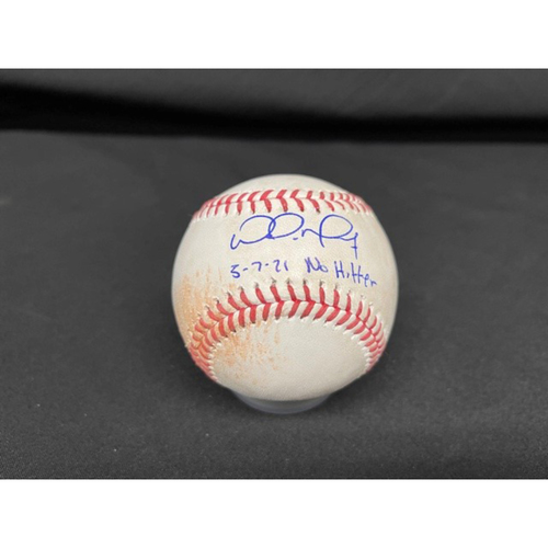 Photo of Wade Miley No-Hitter - *Autographed Game-Used Baseball* - Top 9 - Emmanuel Clase to Jesse Winker (Single - 98.9 MPH Fastball); to Nick Castellanos (Ball in Dirt - 99.0 MPH Fastball) - Inscribed as 5-7-21 No Hitter