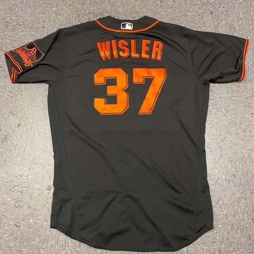 Photo of 2021 Game Used Black Home Alt Jersey - #37 Matt Wisler on 4/24 vs. MIA - Size 46