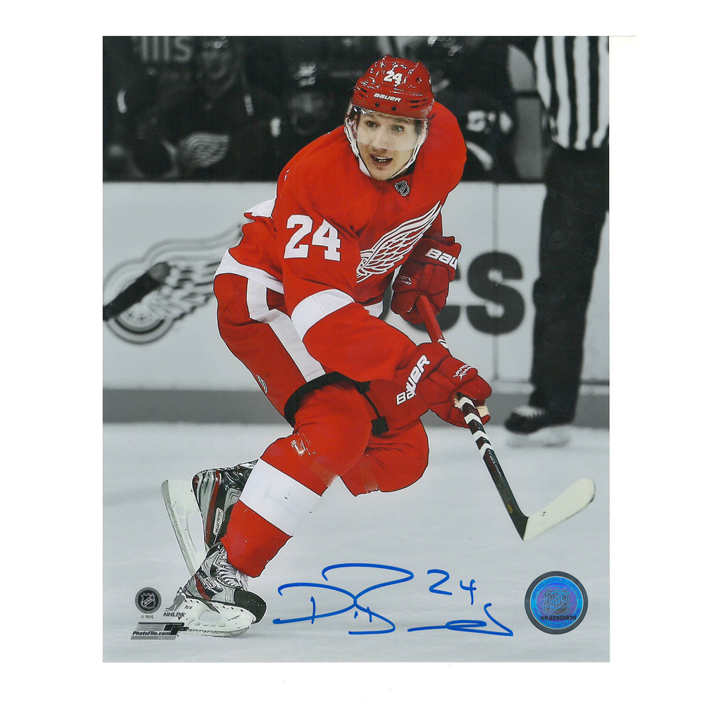 DAMIEN BRUNNER Signed Detroit Red Wings 8 X 10 Photo - 70029