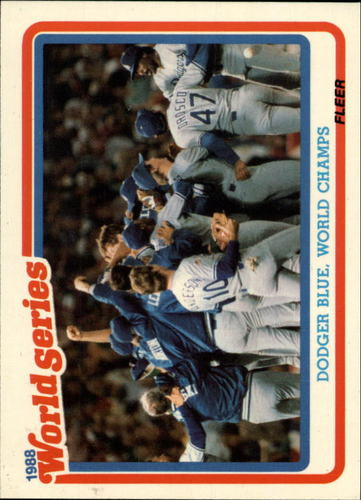 Photo of 1989 Fleer Glossy #WS12 Los Angeles Dodgers