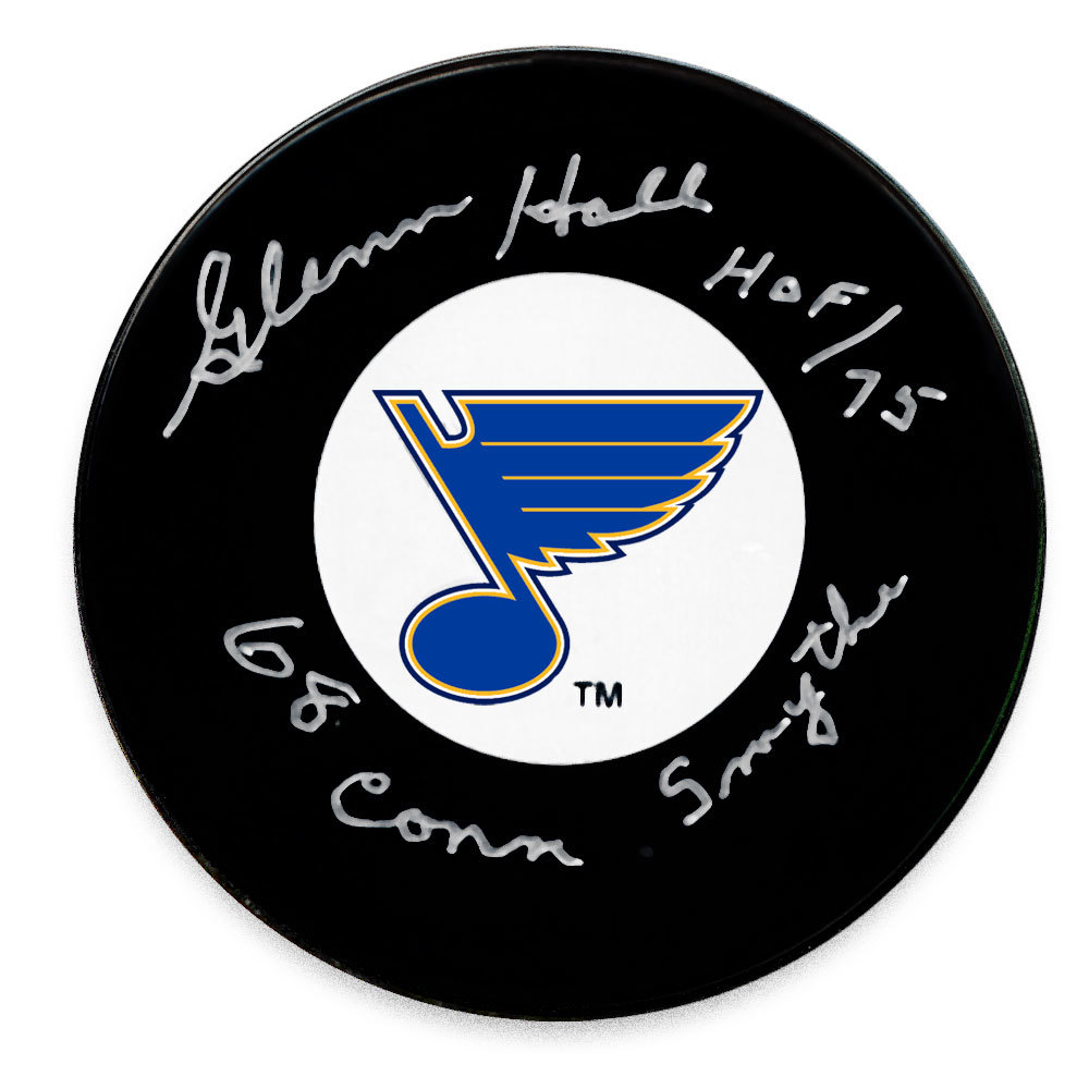 Glenn Hall St. Louis Blues 1968 Conn Smythe Autographed Puck