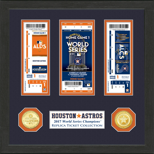 Photo of Houston Astros 2017 World Series Champions Ticket Collection
