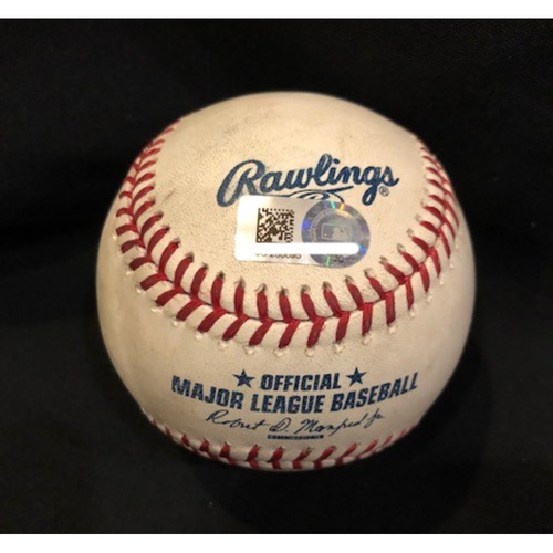 Photo of Craig Kimbrel - Game-Used Baseball - 100.2 MPH Pitch; Used for Final Save (35) of 2017 Season