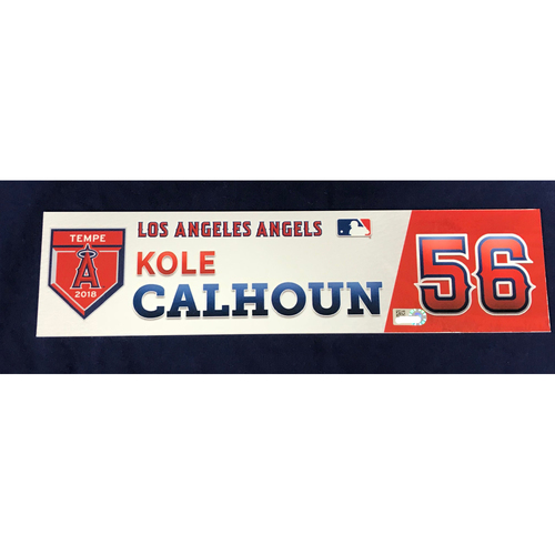 Photo of Kole Calhoun 2018 Spring Training Locker Tag
