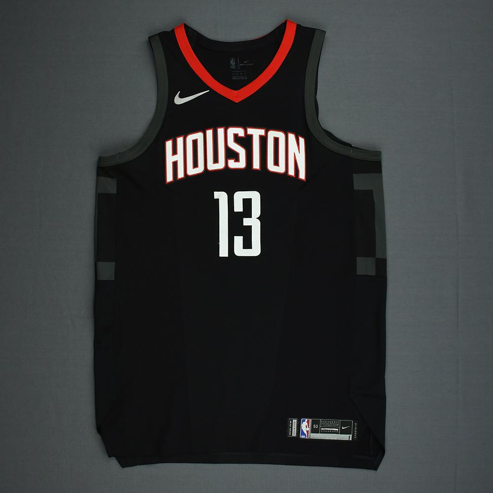 buy popular d930b 34f17 James Harden - Houston Rockets - 2018 NBA Playoffs Game-Worn ...
