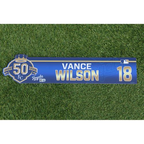 Photo of Game-Used Locker Nameplate: Vance Wilson