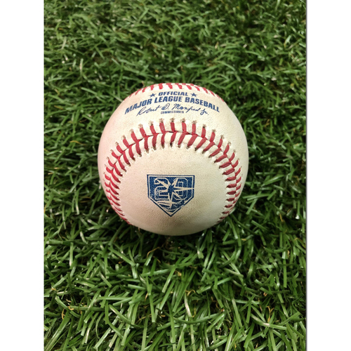 Photo of 20th Anniversary Game Used Baseball: Matt Andriese strikes out JaCoby Jones - July 11, 2018 v DET