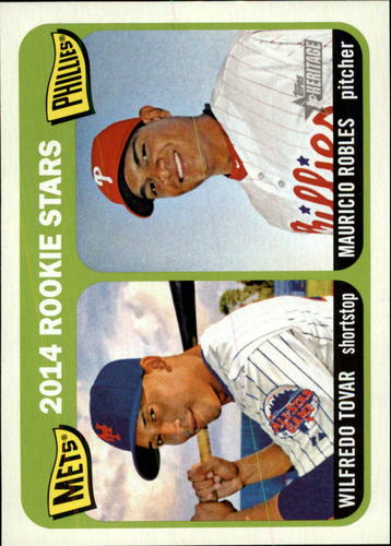 Photo of 2014 Topps Heritage #374 Wilfredo Tovar RC/Mauricio Robles RC